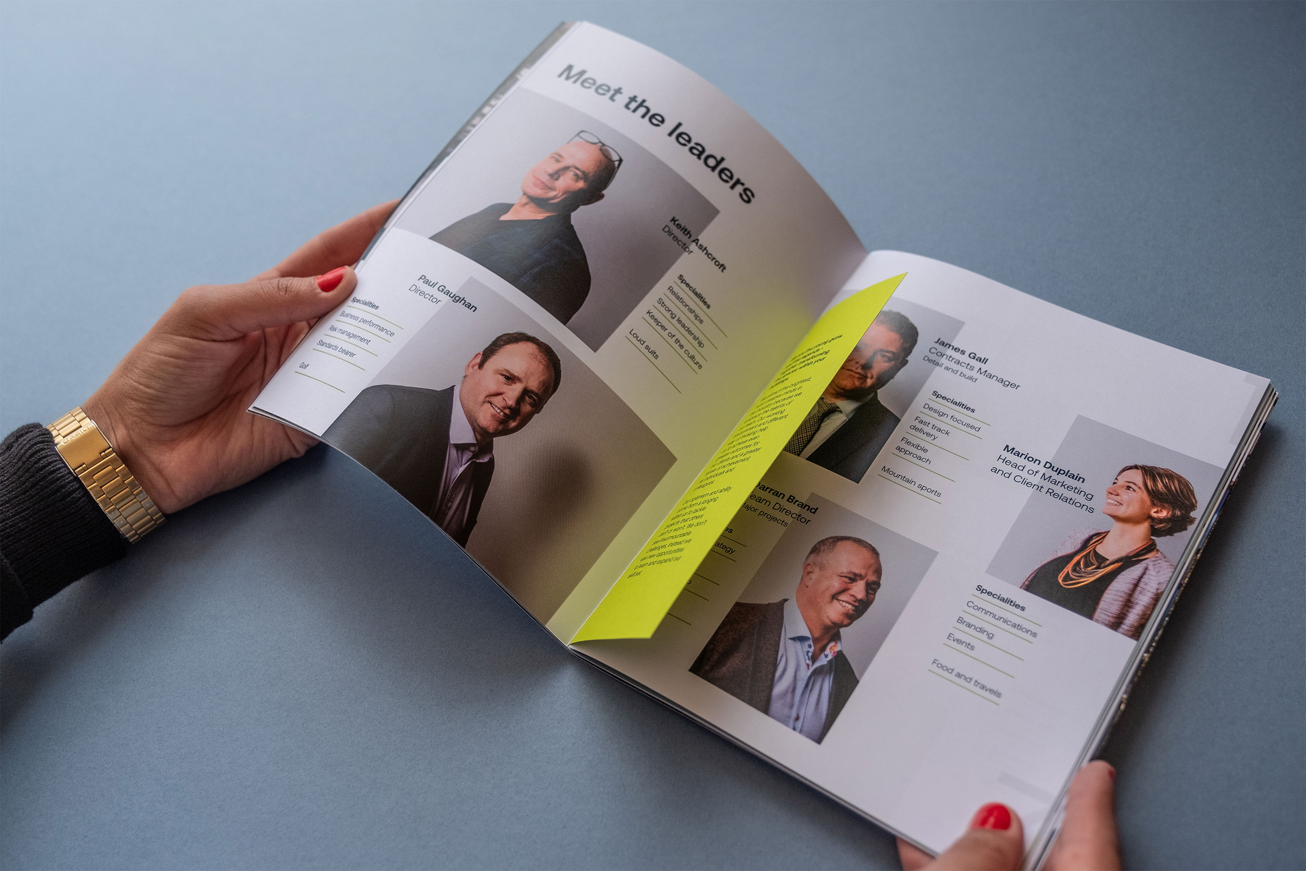 Brochure print design for the new brand identity