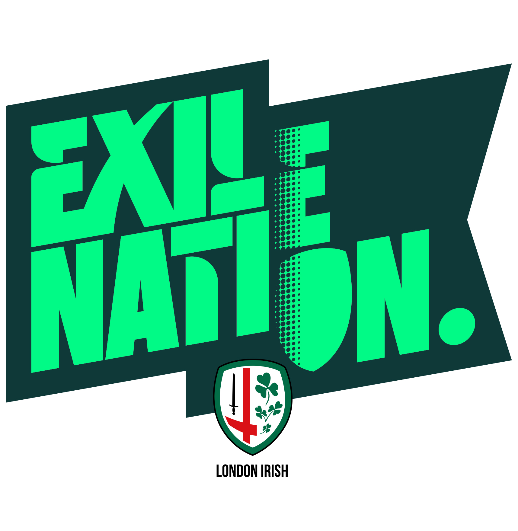 London Irish Exile Nation brand logo design
