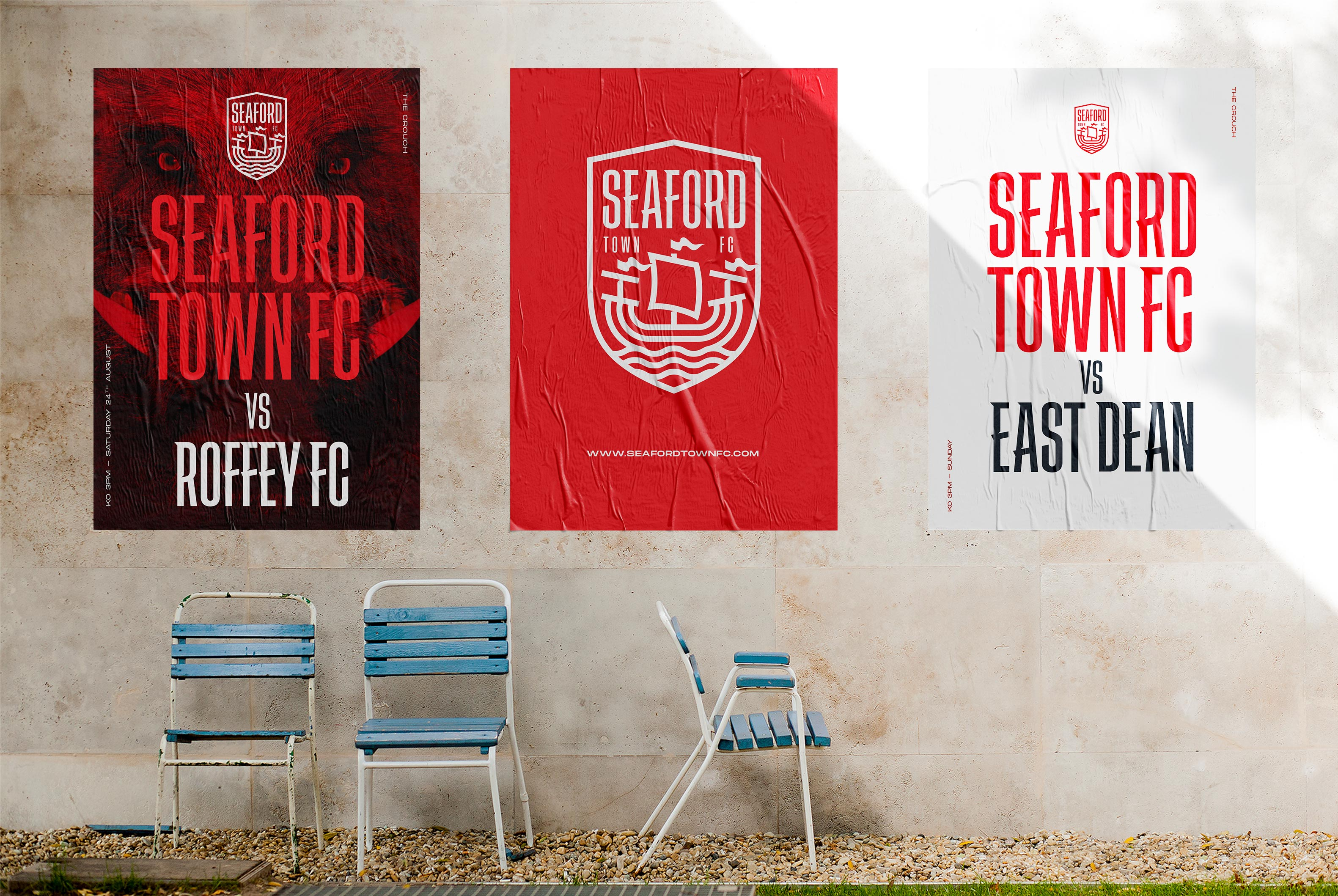 Seaford Town branded poster design